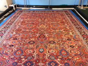 Running River Rug Cleaning had the privilege to clean this beauty ----- an early 1900 Persian hand woven rug